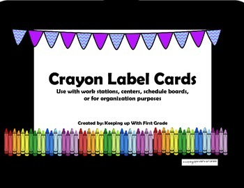 Crayon Labeling Cards