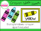 Crayon Labels & Clipart