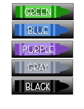 Crayon Labels for Mini Sterilite Drawers