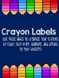 Crayon Labels for Organization