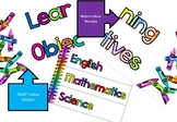 Crayon Learning Objectives Display