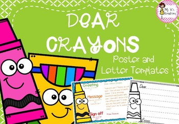 Crayon Letter Poster and Templates