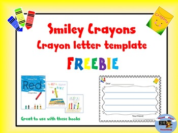 Crayon Letter Template
