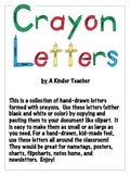 Crayon Letters - Clipart