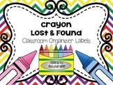 Crayon Lost & Found Classroom Organizer Labels
