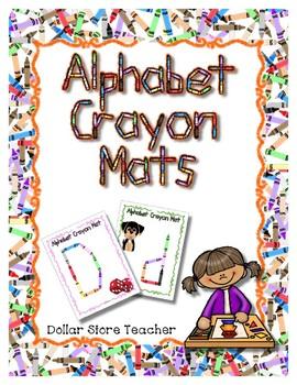 Crayon -  Manipulative Mats Upper & Lower Case Letters  Fine Motor Work