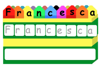 Crayon Name Writing Practice & Letter Matching: Editable!