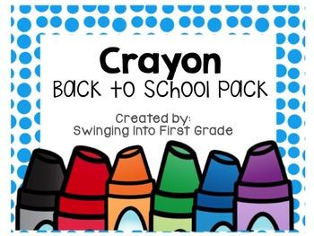 Crayon Name tags & Name plates - editable!