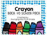 Crayon Name tags & Name plates - editable!