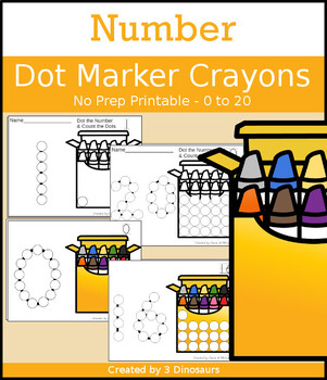 Crayon Number Dot Marker & Counting