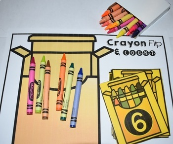 Crayon Number Flip Counting Activity Center {Numbers to 10}
