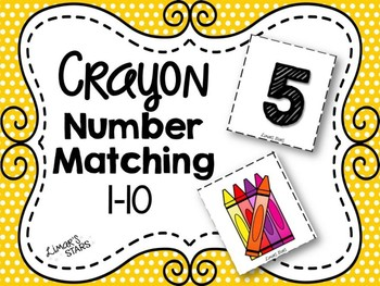 Crayon Number Matching 1-10
