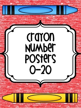 Crayon Number Posters