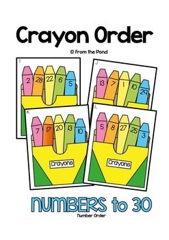 Crayon Order - Math Center Game for Numbers to 30