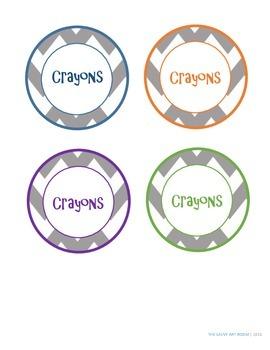 Crayon Organization Labels