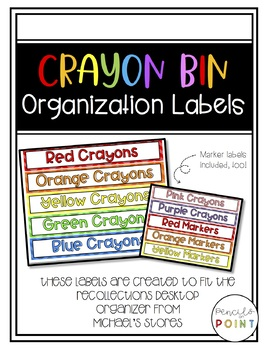 Crayon Organization Labels