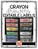 Crayon Drawers Editable Labels