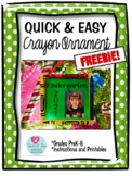 Crayon Ornament Freebie by Teach-A-Roo