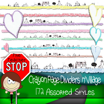 Crayon Page Dividers n' Village {The Teacher Stop}