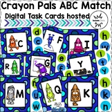 BOOM Cards--Crayon Pals ABC Match