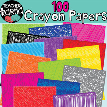 Crayon Scribble Papers BIG BUNDLE - 100 Pcs.