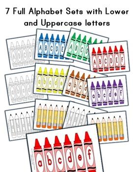Crayon / Pencil Classroom Letter Decorations