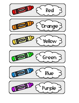 Crayon & Pencil Supply Drawer Labels