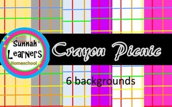 Crayon Picnic Background paper