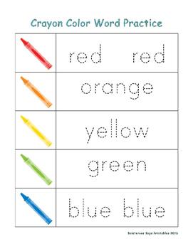 Crayon PreK Early Learning Printable Pack