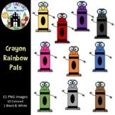 Crayon Rainbow Pals Clip Art