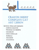 Crayon Resist Cat Art Lesson