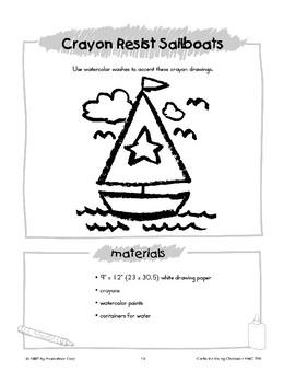 Crayon Resist Sailboats
