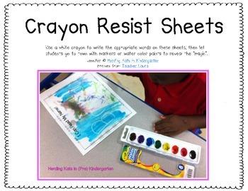 Crayon Resist Sheets