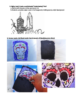 Art Techniques: Crayon Resist / Wax Resist
