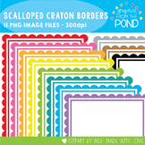 Crayon Scalloped Borders - Graphics for Teachers