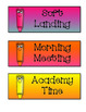 Silly Crayon Schedule Cards