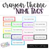 Crayon Scribble Name Tags [editable]