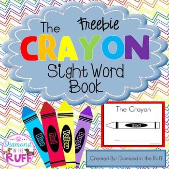 Crayon Sight Word Book (Freebie)