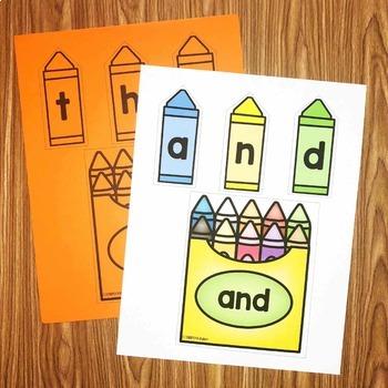 Crayon Sight Words Center - Smart Center
