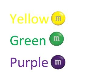 Crayon Sorting Labels