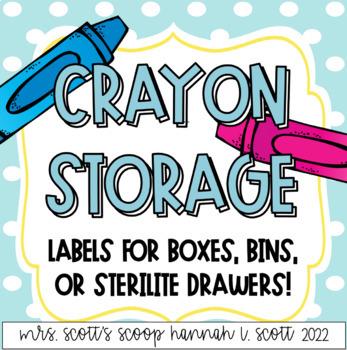 Crayon Storage Labels (coloring organization)