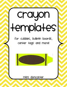 crayon template teaching resources teachers pay teachers