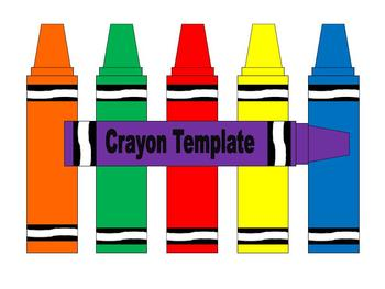 photo about Crayon Printable titled Crayon Template Worksheets Instruction Supplies TpT