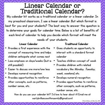 Crayon Theme Calendar Time Starter Kit with BONUS Calendar Pattern Cards