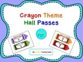 Crayon Theme Hall Passes
