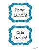 Crayon Theme Lunch Choice Signs