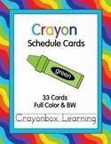 Crayon Schedule Cards - Editable