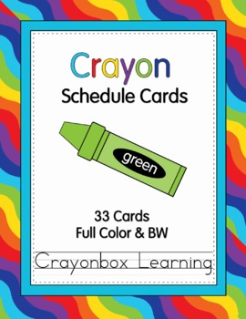 Crayon Schedule Cards - Editable