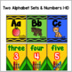 Crayon Themed Alphabet & Number Posters