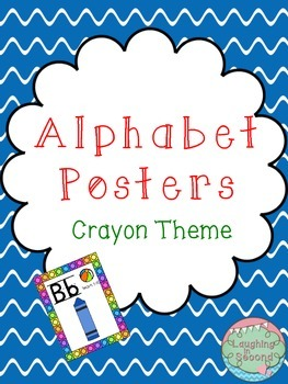 Crayon Themed Alphabet Posters